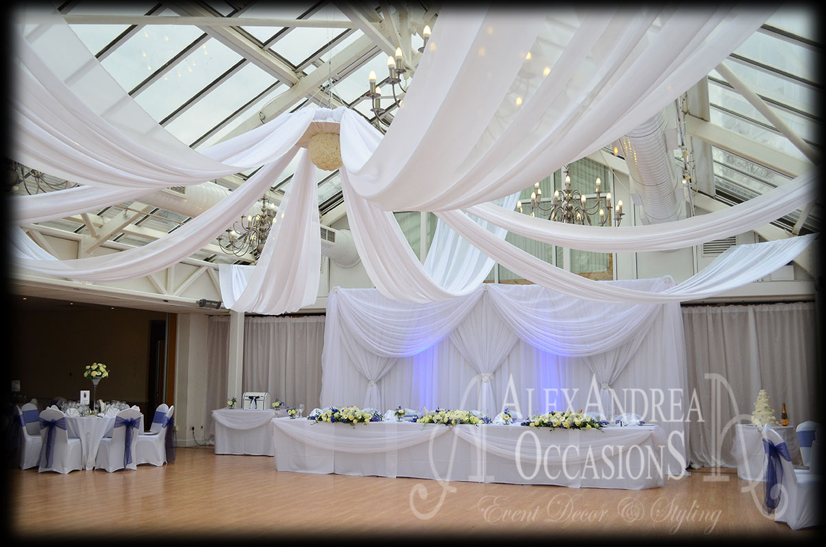 Wedding Event Ceiling Drapes London Hertfordshire