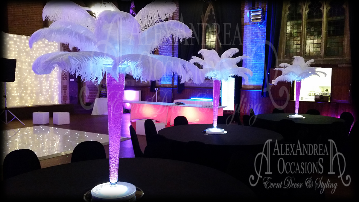 Feather Table Centrepiece Hire London