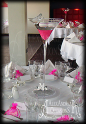Martini Table Centrepiece Hire Essex