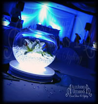 Wedding Fishbowl Centrepiece Hire