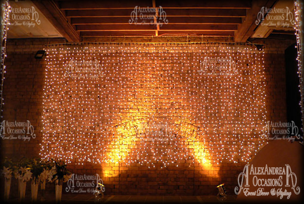 Fairy light hire london essex hertfordshire bedfordshire fairy light curtain wall essex aloadofball Choice Image