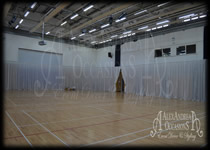 Wall Drapes London - Large Sports Hall