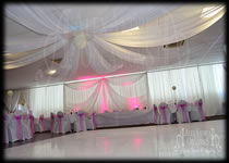 Wall Drapes Hire  Mill House Social Club Dagenham Essex