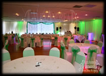 Wedding Decorations Wall Drapes Wodson Park Hertfordshire